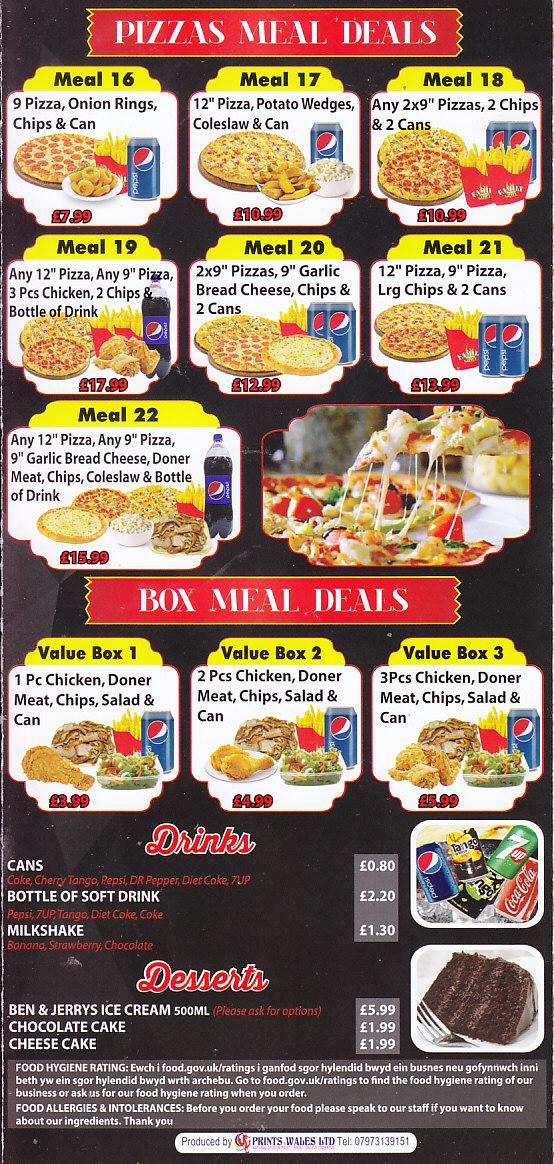 Family Pizza Kebab House Takeaway In Maesteg